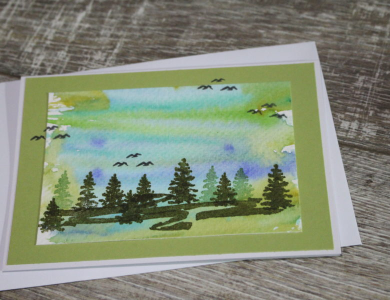 Wald in Aquarell…