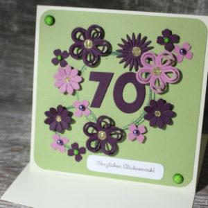 Geburtstagskarten zwischen 70 und 89