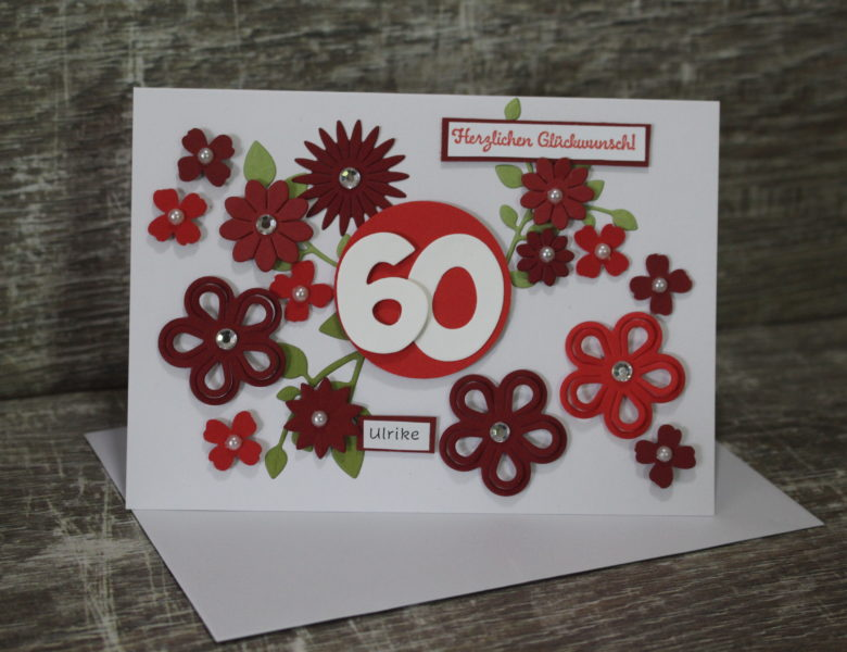 Blumengruß in rot