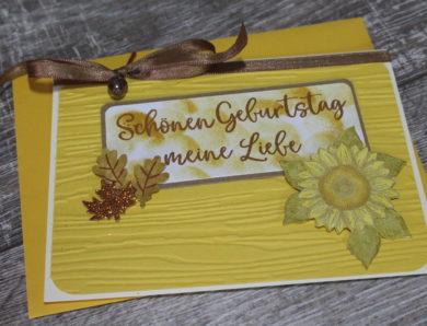 Sonnenblume zum Geburtstag…